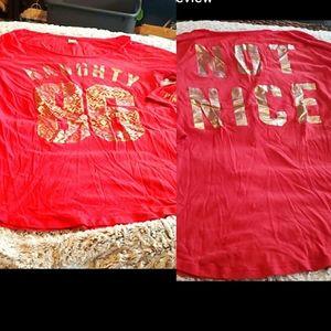 EUC Victoria Secret PINK Christmas sleepshirt